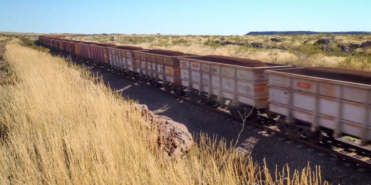 Iron Ore Train enroute to Port, Pilbara, Western Australia