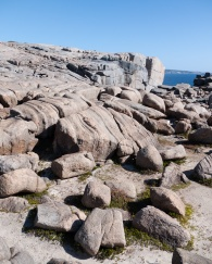 Rocky landscape near the Natural Bridge and the Gap, Torndirrup National Park