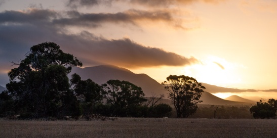Sunset over the Stirling Range National Park