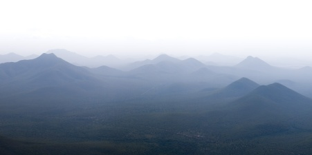 View over the many other crests of the Stirling Range from Toolbrunup Peak