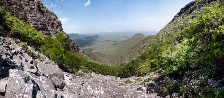 View of the Valley Below from Toolbrunup Peak, Stirling Range National Park