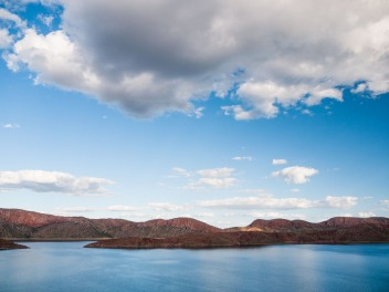 View from the Water Tank Lookout, Lake Argyle, Western Australia