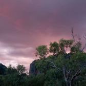 Sunset over Windjana Gorge National Park, Western Australia