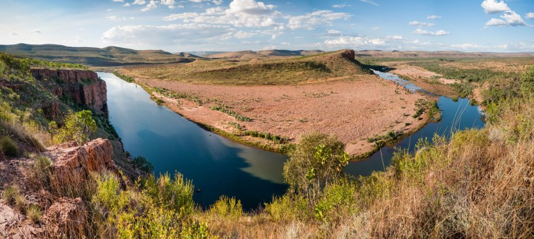 View from Branco's Lookout over the Pentacost River, El Questro Station, Kimberleys, Western Australia