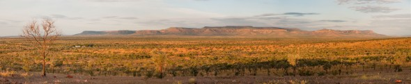 View from Mount Baldy of the Cockburn Ranges at Sunset, Home Valley Station, Kimberleys, Western Australia