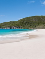 The pristine white sand of Shelley Beach, West Cape Howe National Park
