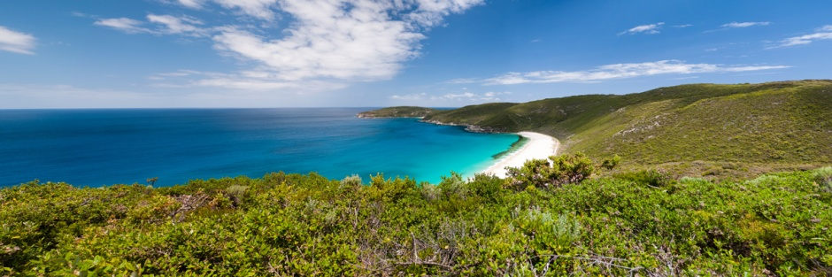 View over Shelley Beach from the lookout, West Cape Howe National Park