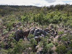 Rocky valley outcrop near Drummonds campsite, Avon Valley National Park, Western Australia