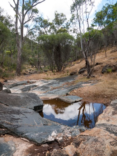 Dry creek bed of the Avon River, Avon Valley National Park, Western Australia