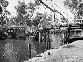 The historic Pumphrey's Bridge over the Hotham River near Dwarda, Western Australia