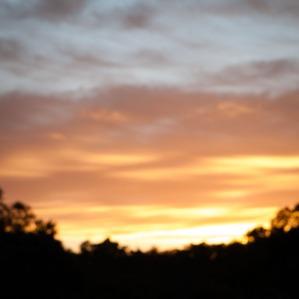 Sunset over farmland near Wandering, Western Australia