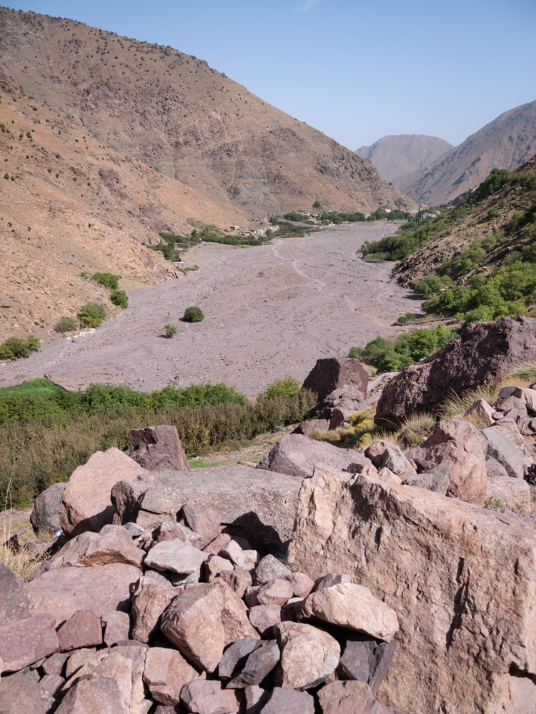 Rocky valleys of Toubkal National Park, Morocco