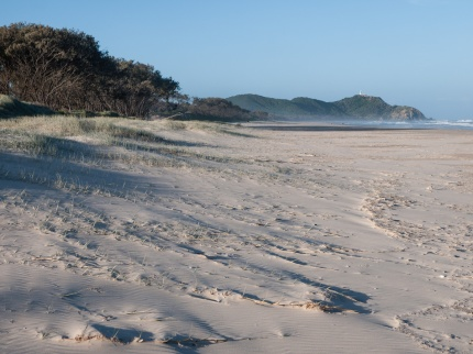 Tallows Beach looking north to the Byron Bay Lighthouse, Arakwal National Park