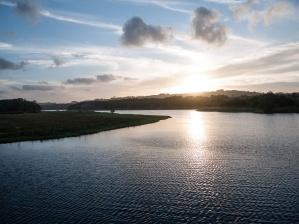 Sunset over Tallows Creek, Arakwal National Park