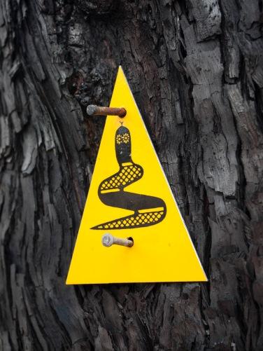 Bibbulmun track sign pointing the way, Mount Cooke, Monadnocks Conservation Park